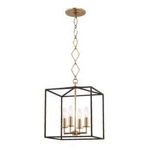 Earlene 4-Light Square Pendant by Ivy Bronx