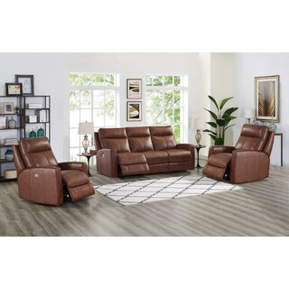 Amasia 2 Piece Leather Reclining Living Room Set by Winston Porter SKU:AC175047 Description