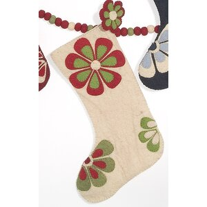 Flower Power Christmas Stocking