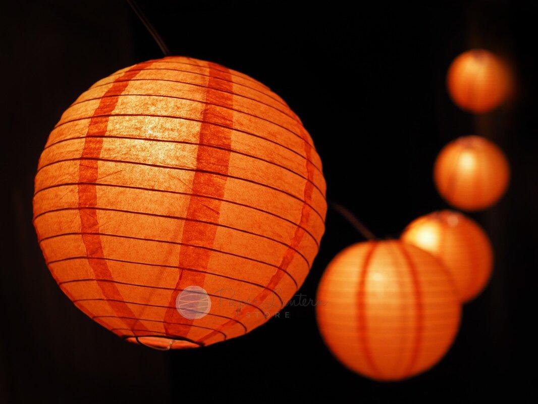 Halloween Jack O Lantern Pumpkin Paper String Light