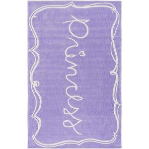Cesar Hand-Tufted Bright Purple/White Area Rug