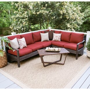 SE Brands Augusta 5 Piece Sectional Set with Cushions