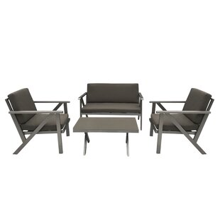 Lindholm 4 Piece Sofa Set with Cushions
