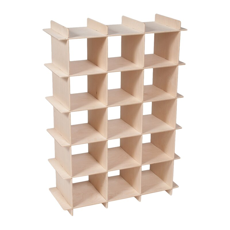 Harriet Bee Oundle Kids 15-Compartment 15 Pair Shoe Rack