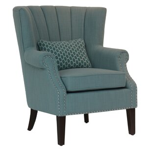 Imboden Upholstered Channel Back Accent Armchair by Alcott Hill