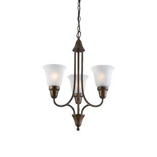 Fleur De Lis Living Willhite 3-Light Shaded Chandelier