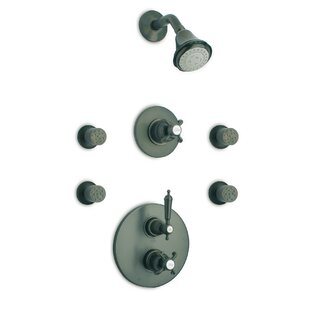 LaToscana Ornellaia Volume Control Adjustable Shower Head Complete Shower System