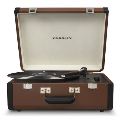 Portfolio Portable Turntable with Bluetooth Crosley Electronics Color: Brown/Black