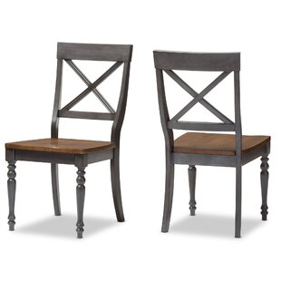 Baxton Studio Pia Solid Wood Dining Chair..