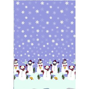 Let it Snow Holiday Print Shower Curtain Set