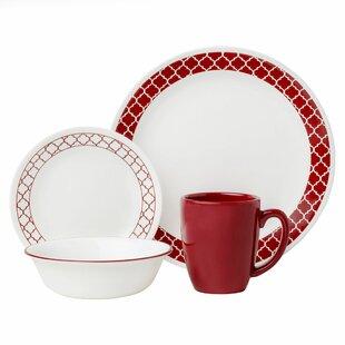 Livingware Crimson Trellis 16 Piece Dinnerware Set Service for 4  sc 1 st  Wayfair & Valentine\u0027s Day Tabletop You\u0027ll Love | Wayfair