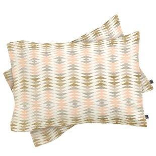 Metallic Triangles Pillowcase (Set of 2)