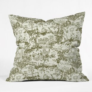 Rachelle Roberts Farm Land Toile Throw Pillow
