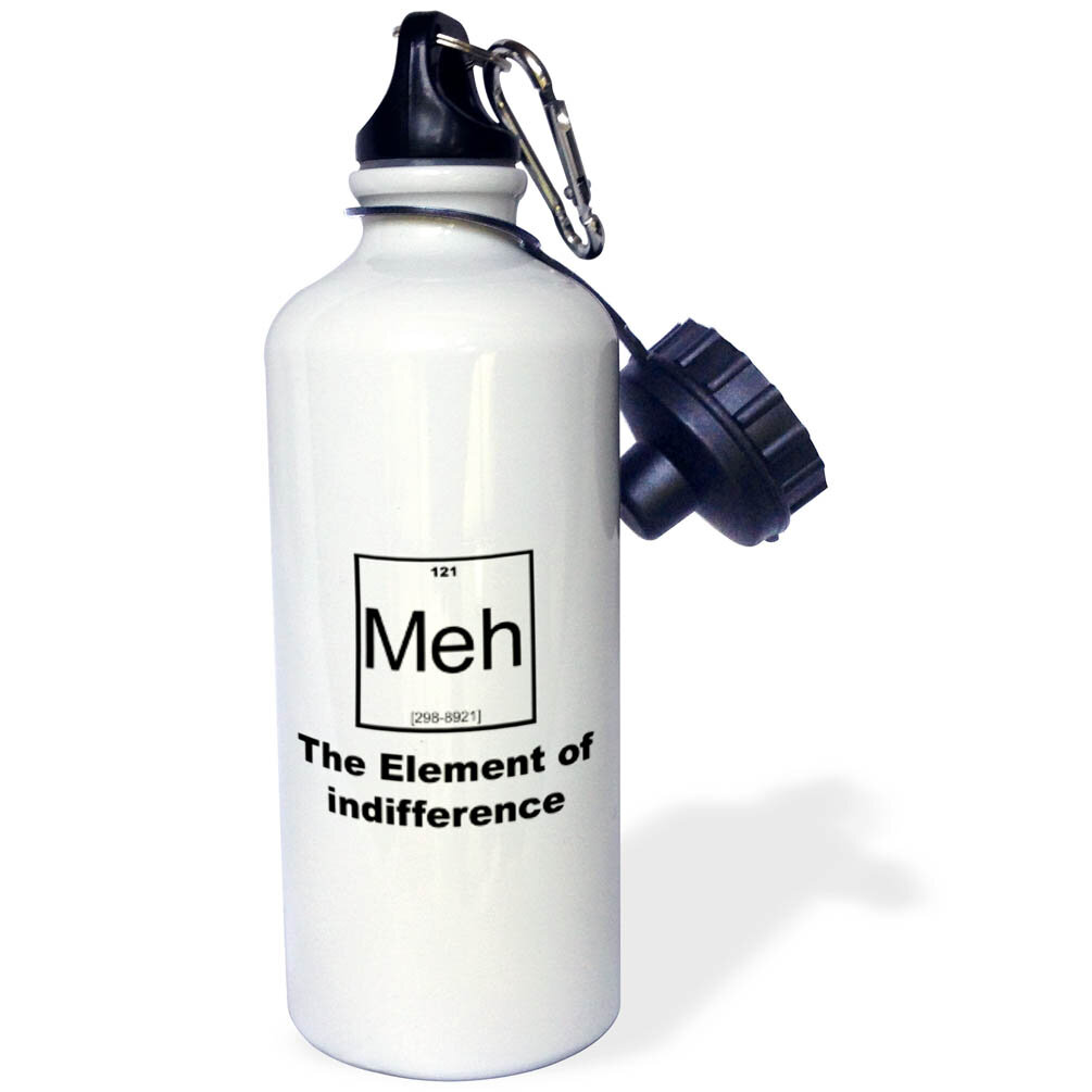 3drose Meh The Element Of Indifference 21 Oz Stainless Steel Water Bottle Wayfair