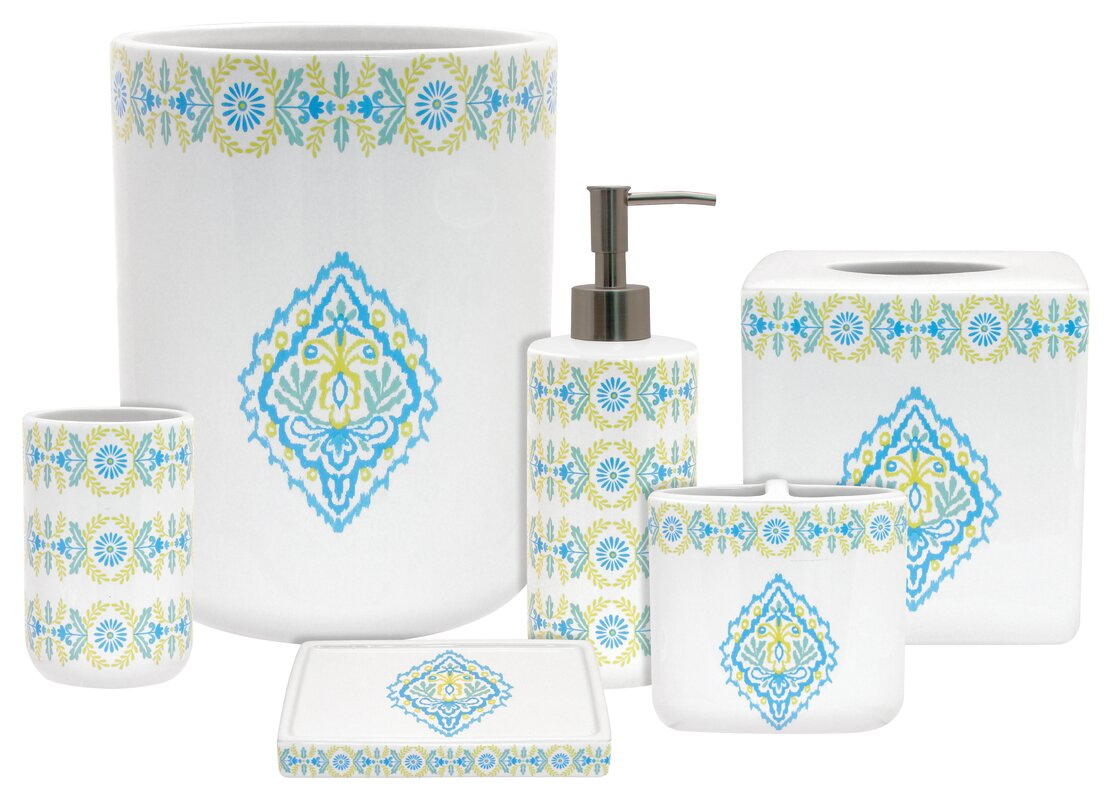 Dena Diamond 6 Piece Bathroom Accessory Set