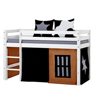 Review Basic Mid Sleeper Bed With Curtain