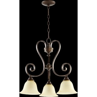 Quorum Celesta 3-Light Shaded Chandelier
