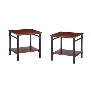 Bealeton Faux Wood End Table (Set of 2) by Williston Forge