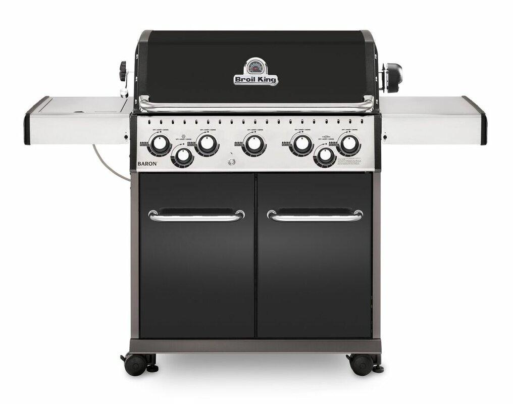 broil king baron 590 5 burner gas grill with side burner u0026 reviews