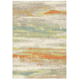 Zana Orange/Green Rug by Longweave