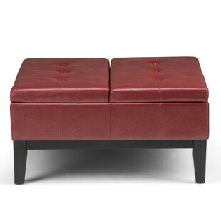 Best Reviews Dover Square Coffee Tufted Table Ottoman BySimpli Home