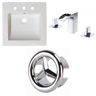 Shopping for Ceramic Rectangular Drop-In Bathroom Sink with Faucet and Overflow ByAmerican Imaginations