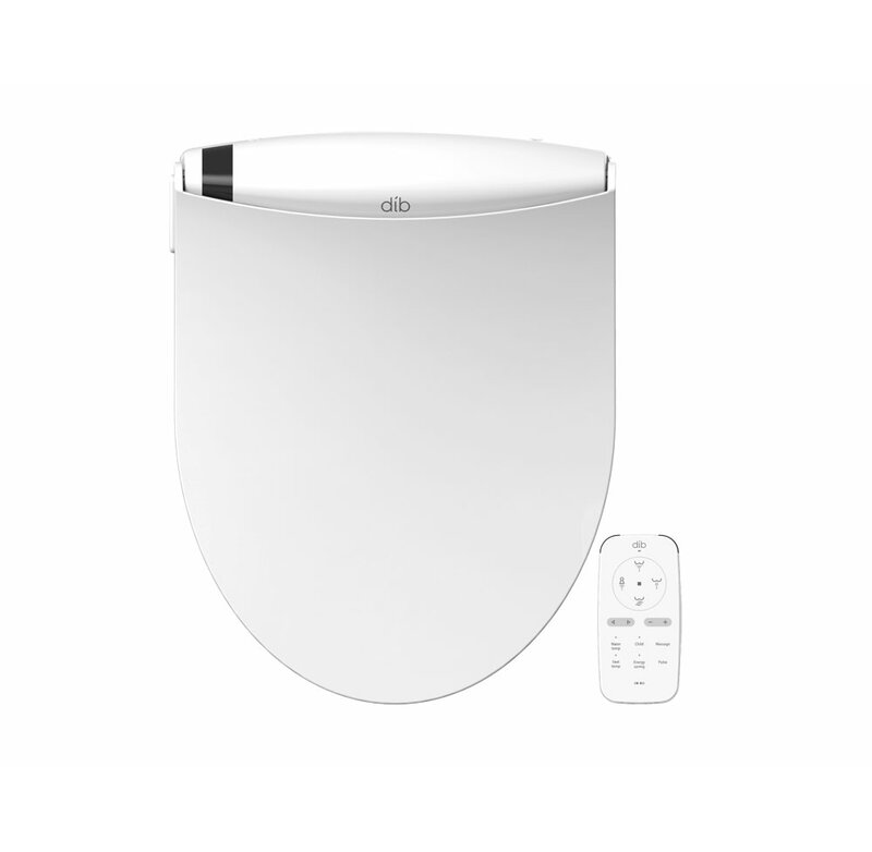 Bio Bidet Slim TWO Smart Toilet Seat in Elongated White with Stainless SEALED