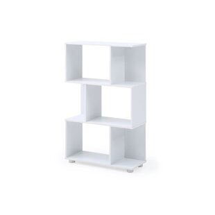 Debolt Staggered 3 Shelf Geometric Bookcase