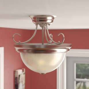 Inexpensive Upland 2-Light Semi-Flush Mount By Charlton Home
