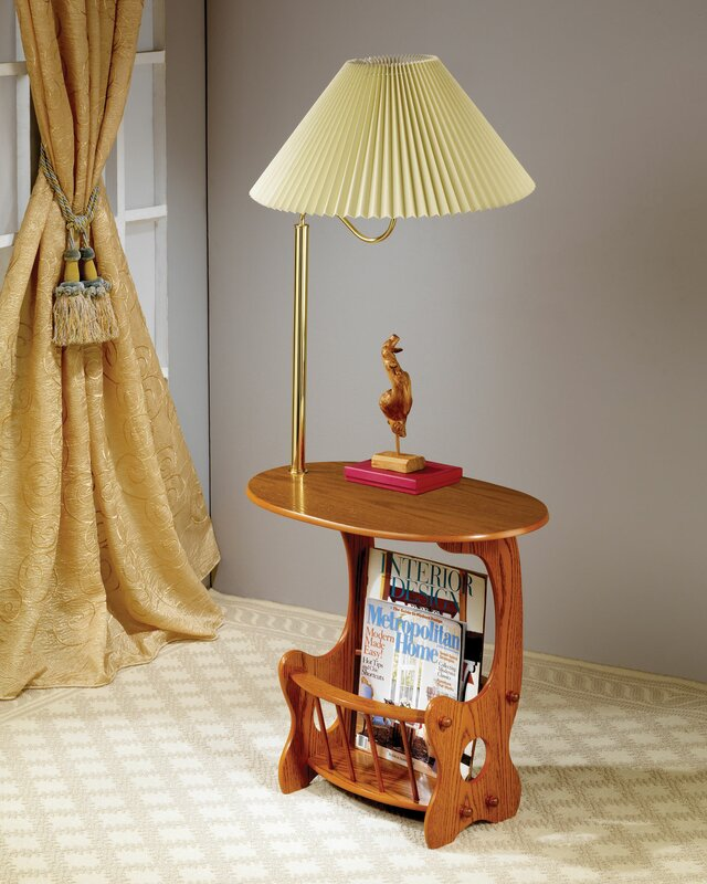 Amazing Grenoble Swing Brass Lamp End Table