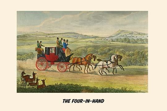 Buyenlarge The Four In Hand By Henry Alken Graphic Art Print Wayfair Ca