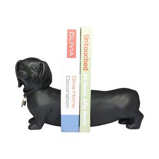 Tabron Dachshund Dog Book Ends (Set of 2)