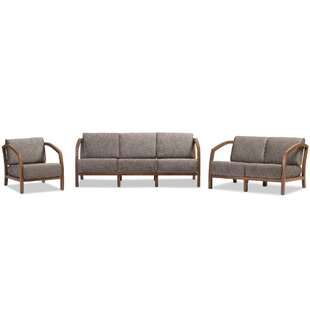 Read Reviews Eli 3 Piece Living Room Set by George Oliver Reviews (2019) & Buyer's Guide