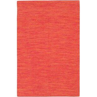 Elbeni Hand Woven Cotton Orange Area Rug byZipcode Design