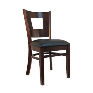 H&D Restaurant Supply, Inc. Wood Upholstered Dining Chair (Set of 2)