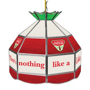 Trademark Global Coca Cola Ice Cold Stained Glass 1-Light Pool Table Lights Pendant