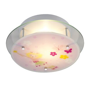 Zoomie Kids Giannone Fairy Theme Semi Flush Mount