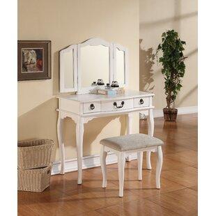 Astoria Grand Sperling Vanity Set with Mirror