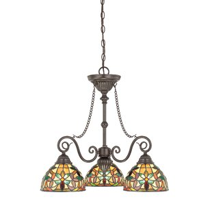 Loon Peak Nedrow 3-Light Shaded Chandelier