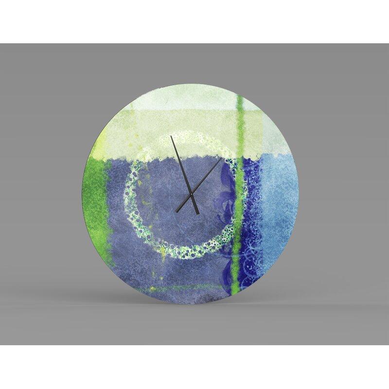 Orren Ellis Oversized Angier Wall Clock Wayfair