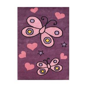 Adoor Hand-Tufted Pink Area Rug