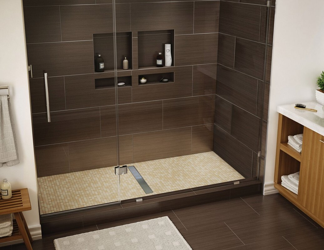 sofa tile size full of prefab concept panels wall pan pans tileable shower installation divine sale base for sizes image