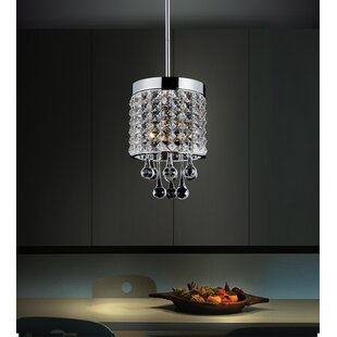 CWI Lighting Gem 1-Light Crystal Pendant