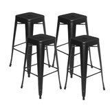 Bayly 30.3 Bar Stool (Set of 4) by Williston Forge