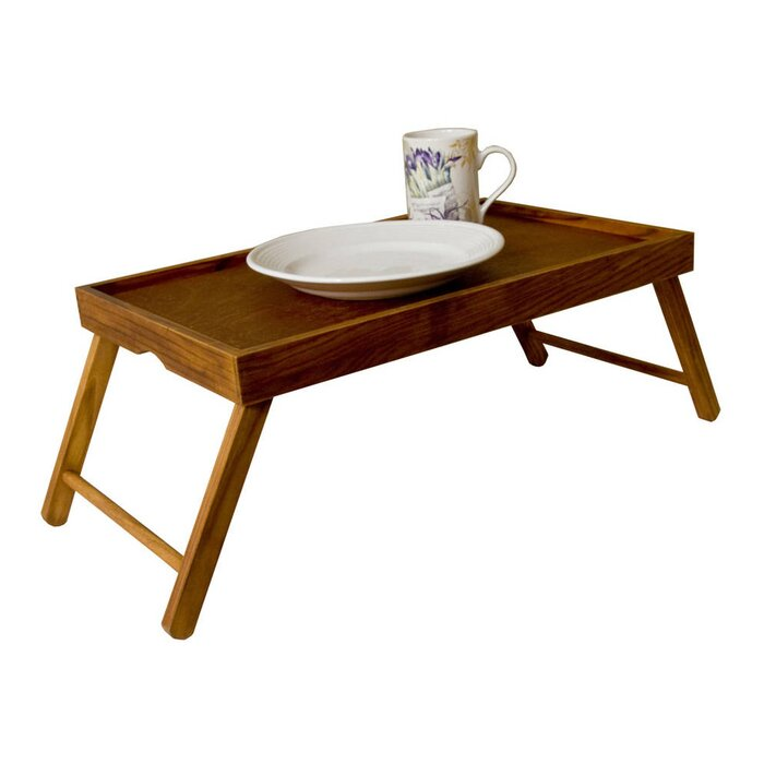 Sweet Home Collection Rustic Pine Wood Folding Legs Breakfast In Bed Food Serving Laptop Tray Table Reviews Wayfair Ca
