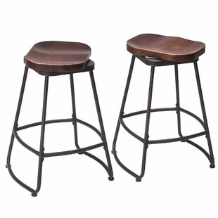 Hendricks Metal 24 Swivel Bar Stool (Set of 2)