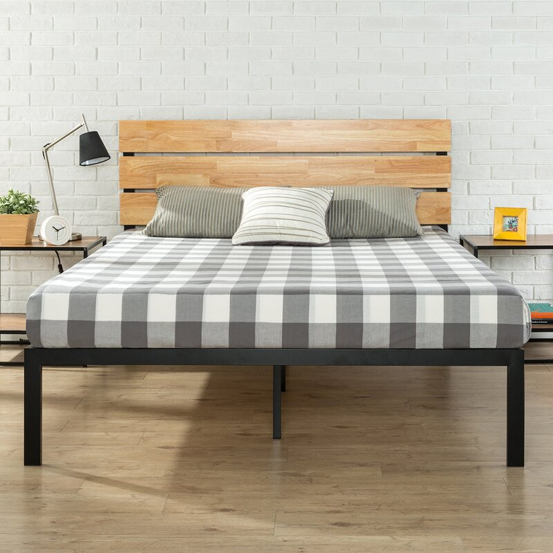 Zinus Sonoma Metal Wood Platform Bed Reviews Wayfair