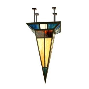 Polaris 1-Light Semi-Flush Mount by Meyda Tiffany