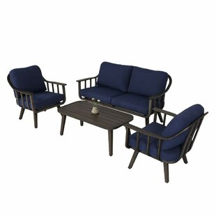 Osmond 4 Piece Sofa Seating Group With Cushions