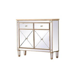 2 Door Mirrored Apothecary Square Accent Cabinet by Prestige SKU:DA119509 Buy
